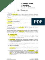 IM0002 - Injury Management