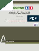 OpinionWay - Le baromètre CLAI  Metro  LCI du changement dans laction politique Nov2013
