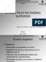 Thiago Moura - o Role-play No Ensino Superior