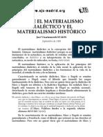 Sobre el materialismo dialéctico y el materialismo histórico