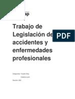 Trabajo de Legislación de accidentes y enfermedades profesionales