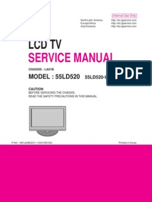 lg55ld520 sm PDF | Printed Circuit Board | Soldering