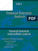 Financial Statement Analysis Unit 1