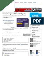 Sistema de Login Em PHP Com Codeigniter