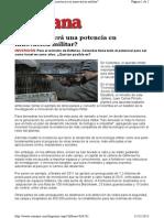 Colombia será una potencia en innovación militar