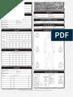 Karta postaci WFRP 2ed