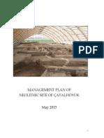 Çatalhöyük Neolitik Kenti Yönetim Planı