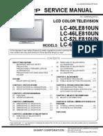 Sharp Lc40le800un Lc46le810un Lc52810un Lc60le810un Led Tv Sm Final