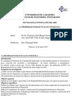 1 Propiedad Intelectual en Venezuela Parte i 14 06 2013