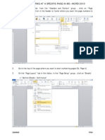 Start Page Numbering at a Specific Page in MS Word