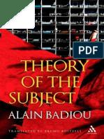 Alain Badiou, Theory of the Subject  2013.epub