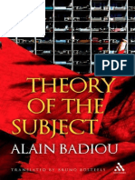 Alain Badiou, Theory of the Subject  2013.epub