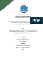 Anteproyecto - Santos Jimenez