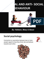 pro-social  anti-social behaviour