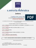 Catalogo Lib Heb 2012