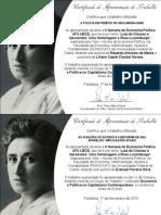 Certificados de Apresentação de Trabalho - II SEP