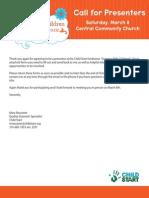 GWC 2014 Presenter Packet