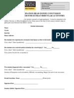 MCPS Pre-Sport Season Concussion Reporting Form