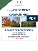 Dossier Demande Logement Campus RETOURS de GEP M1