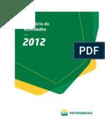 Relatorio de Atividades Petrobras 2012 Portugues