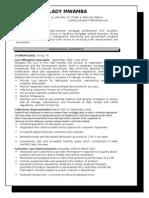 vm mortgage professional resume