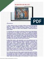 Tradición De Pilato (Anónimo)