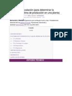 Método de Escalación (para determinar la capacidad optima de producción en una planta)