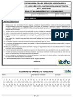 Ibfc 131 Analista Administrativo Jornalismo