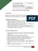 GERENCIA DE INVESTIGACIÓN Y DESARROLLO