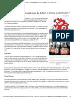 11 Nov 13 - Coca-Cola says to invest over $4 billion in China in 2015-2017.pdf
