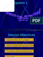 Linux, C, C++/ Object Oriented Programming With C++ / Session