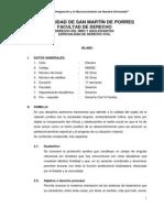 Silabo de Derecho Del Nino y Adolescentes Corregido El 20-02-2012