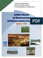 Boletim de Monitoramento Do Sistema Elxtrico - Agosto-2013