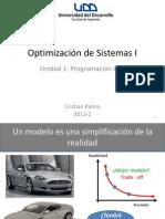 Optimización I - Unidad 1 - PL