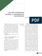 Belchior Mariana UMA NOVA INTERPRETAÇÃO PLATONICA A CONTRIBUICAO DE SCHELEIERMACHER