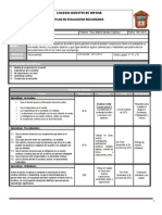 Plan y Programa de Evaluacion Bloque III