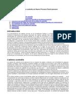 Cadena Custodia Nuevo Proceso Penal Peruano