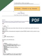 PHP için Türkçe El Kitabı