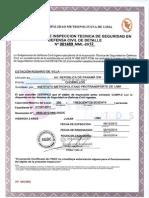 18 Certificados Estaciones Corredor Sur