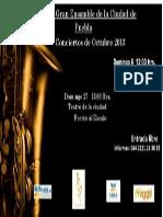 Poster Orquesta Octubre 2013