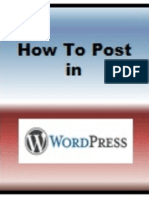How to Post in Wordpress