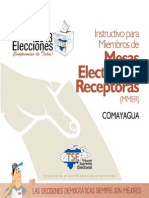 Instructivo Para Miembros de Mesas Electorales Receptoras(Honduras)