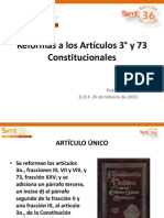 Articulos 3 y 73 y Ley General