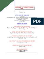 103250601 Consti2 Lecture Outline March 2012