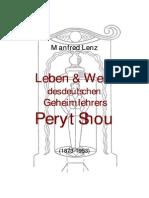 Leben Und Werk de Deutschen Geheimlehrers - Peryt Shou
