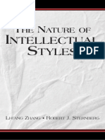 Li-Fang Zhang Robert J. Sternberg the Nature of Intellectual Styles Educational Psychology 2006