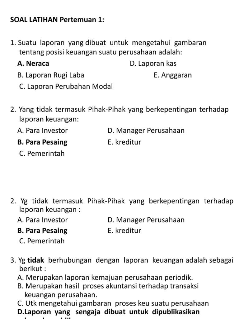 11 Contoh Soal Uas Akuntansi Keuangan Menengah 1 Kumpulan Contoh Soal
