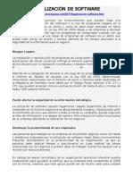 LEGALIZACIÓN DE SOFTWARE