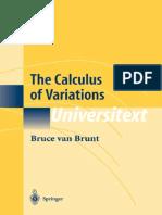Bruce Van Brunt the Calculus of Variations 2010