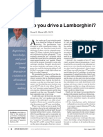Applied Radiology Editorial- Do You Drive a Lamborghini?